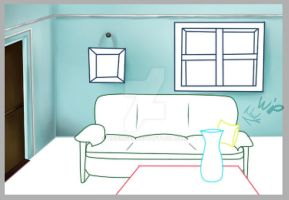 First digital room drawing  _ WIP by nadine20