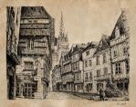 Quimper old paper by nicolasjolly