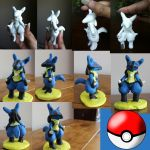 My Clay Lucario by MoombaTroopa