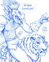 My Troll Hits Level 40 by Dustmeat