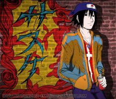 Graffiti Sasuke by Midorikawa-eMe111