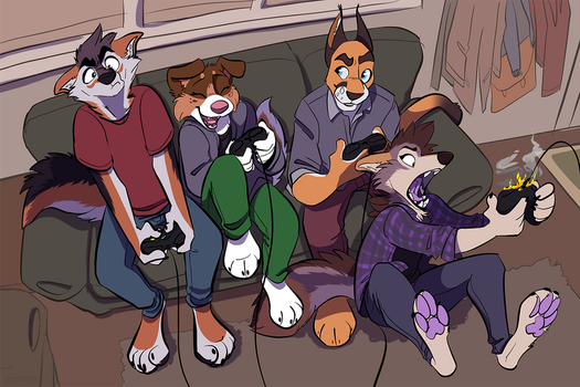 Couch Critters by Tsebresos