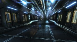 Another Sci fi Corridor by pmargacz