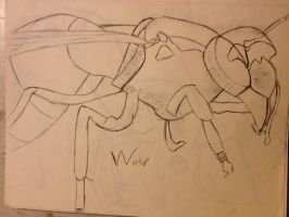 Sketch - Wasp by cptmiche