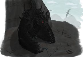 Alduin the World Eater by Wolf--Shadow
