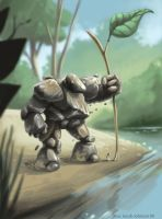 Pebble Golem by cardboardshark