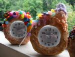 Candy Covered Donut Clocks by kawaiifriendscafe