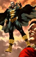 Black Adam and Shazam by GlebTheZombie