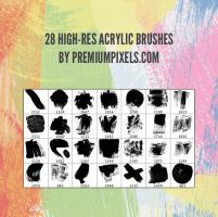 28 High-Res Acrylic Brushes by ormanclark
