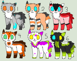 Uncovered Cat Adoptables (Closed) by BarleyandJazzy