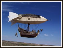 Steampunk Airship model by ShadowArcher80