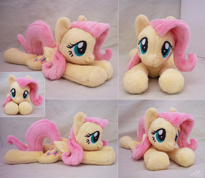 Fluttershy Lying Beanie by lazyperson202