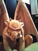 Gargoyle carving . by braindeadmystuff
