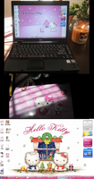Hello Kitty Madness Laptop by naru
