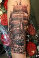 Realistic ship by gettattoo