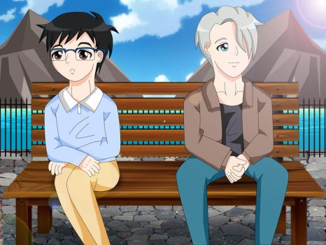 Victuuri: By the Bay by pinkpandacutie
