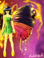 Fire and butterfly by Huntball