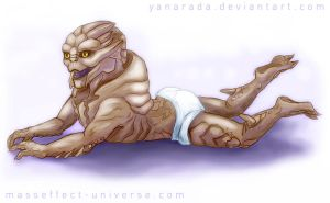 Turian child by Yanarada