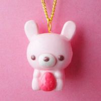 Sweet-Berry Bunny Necklace by AsianBunni