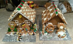Our Gingerbread Houses by TsuKaza90