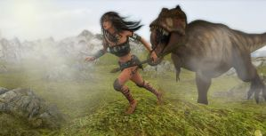 Prehistoric Pursuit by LordXarnor