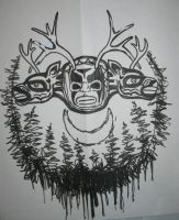 NW horned god by KING1384
