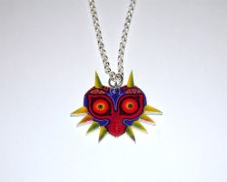 Majoras Mask Necklace by knil-maloon