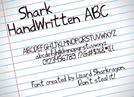 Font - Shark HandWritten ABC by TheSharkGuy