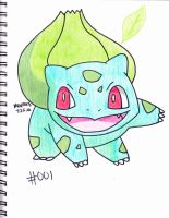 #001 bulbasaur by Yami-The-Orca