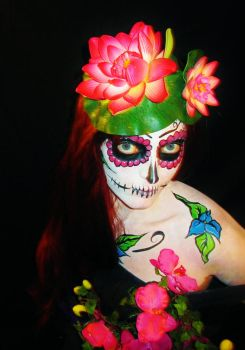 sugar skull girl by luvlee9