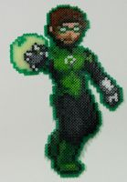 Perler Bead: Green Lantern by thewiredslain