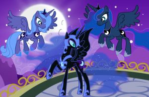 Princess Luna Evolution by AquaticNeon
