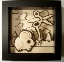 burned rat shadow box by matt136