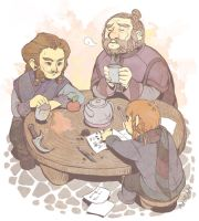 Hobbit - tea time by PetitPotato