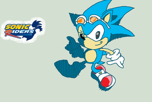 classic sonic in sonic riders by supermarioguy