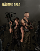 Daryl and Merle Dixon-- Brothas 4 lyfe by TheBlasianBruski