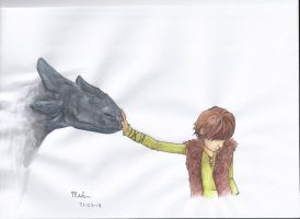 Toothless and Hiccup by Kiyouya