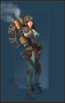 Steampunk Girl by Miggs69