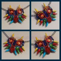 Majoras Mask necklace by Gimmeswords
