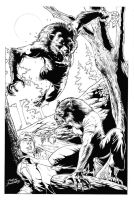 Werewolf pinup_pencils by Buchemi