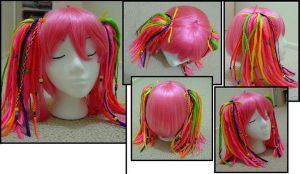 Pink CANDY KID WIG by taiyowigs