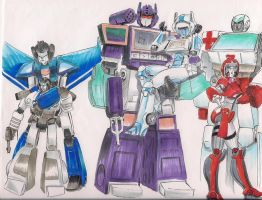 Mech with Femmes by Jovianwolfgirl