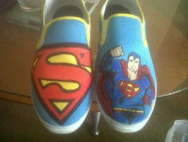superman custom shoes by customtreadchris