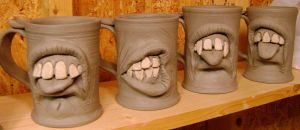 Dental mugs on the shelf-WIP by thebigduluth
