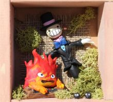 Calcifer and Rapa clay by tanadelbianconiglio