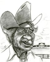 Jim Davis as Jock Ewing (Dallas) by Caricature80