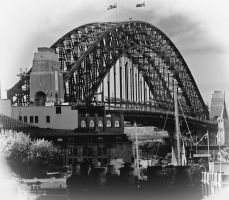 Sydney Harbour Bridge Retro by FireflyPhotosAust