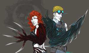 Commission: Infected Duo by TheLizAngel