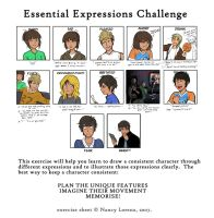 12 expression examples w/ a different style by SkiM-ART