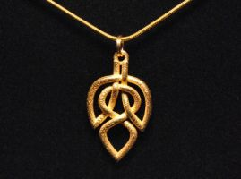 Celtic Knot Leaf Necklace by dfoley75